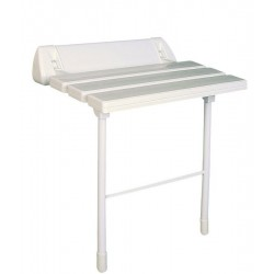 Siedzisko prysznicowe, składane z podporą, białe