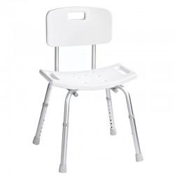 Krzesło z oparciem, regulowana wysokość, białe