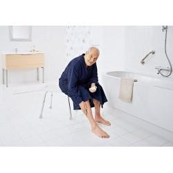 Taboret łazienkowy, ustawianie wysokości, biały
