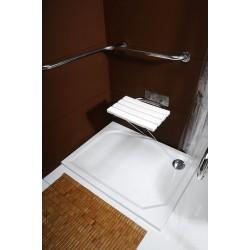 Poręcz do prysznica 670x670mm, stal nierdzewna