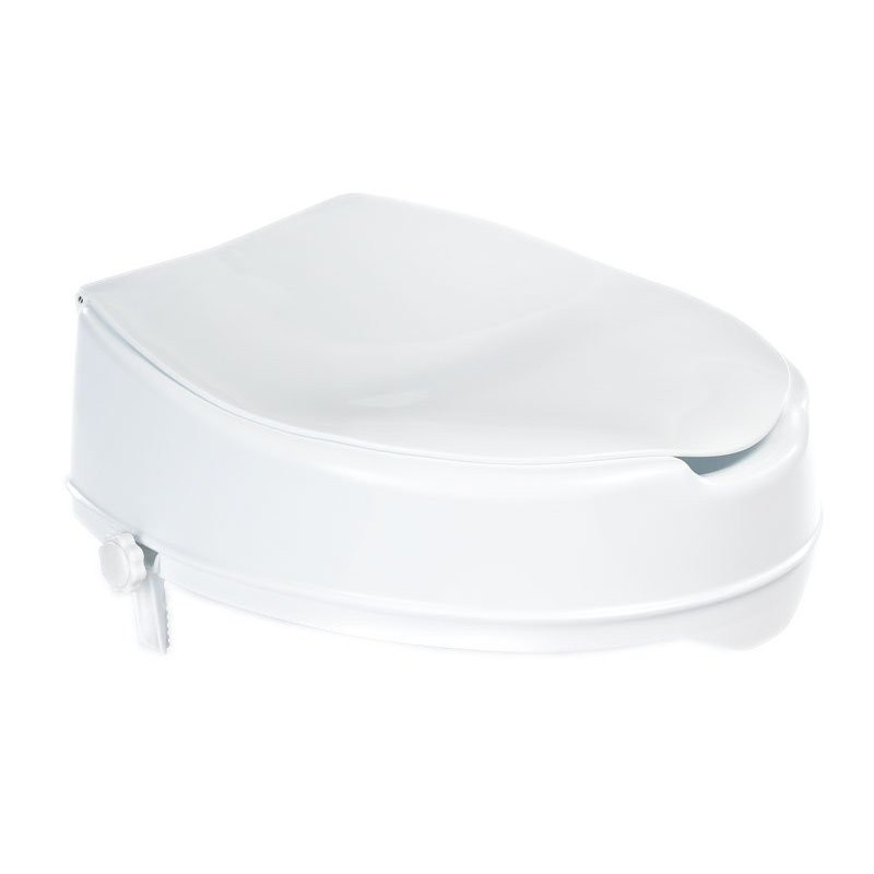 Podwyższona deska WC 10cm, bez uchwytów, biała