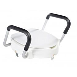Podwyższona deska WC, z uchwytami, biała