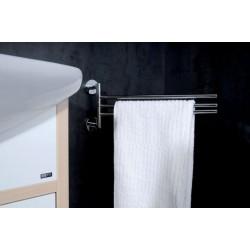OMEGA potrójny wieszak na ręczniki obrotowy 420mm