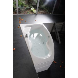 MAMBA 170 R wanna asymetryczna 170x100x44cm, prawa, biała
