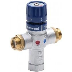 Bateria termostatyczna, 1/2'M, 30-60 stopni, zawory zwrotne