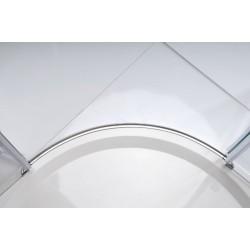 LEGRO kabina pryszn. półokrągła 900x900mm, drzwi skrzydł. podwójne, szkło czyste