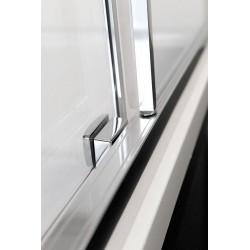 LUCIS LINE półokrągła kabina prysznicowa 900x900mm, R550 szkło czyste