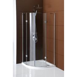 LEGRO kabina prysznicowa półokrągła 2- drzwiowa 1000x100mm, szkło czyste