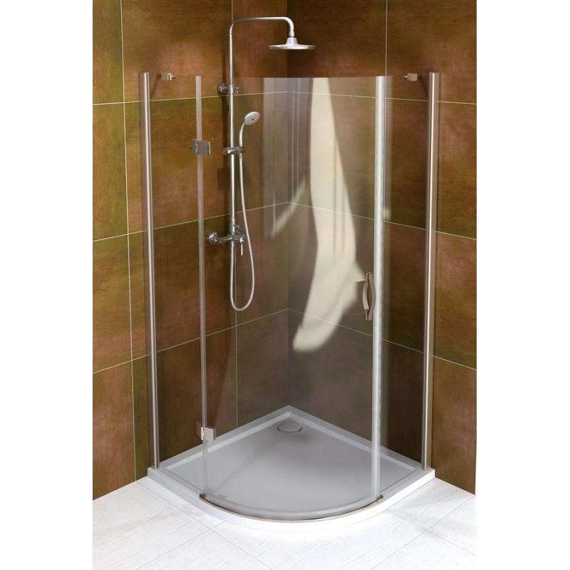LEGRO kabina prysznicowa półokrągła, jednodrzwiowa 900x900mm, szkło czyste