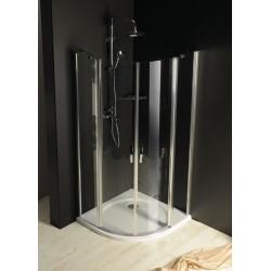 ONE kabina prysznicowa półokrągła 800x800 mm, szkło czyste