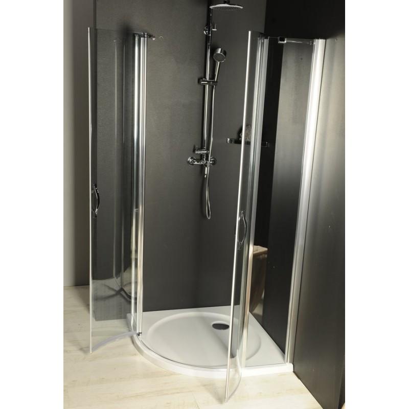 ONE kabina prysznicowa półokrągła 900x900 mm, szkło czyste