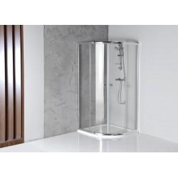 ARLETA kabina prysznicowa półokrągła 800x800mm, szkło czyste