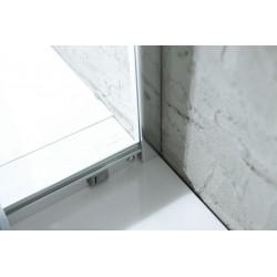 ARLETA kabina prysznicowa półokrągła 900x900mm, szkło czyste