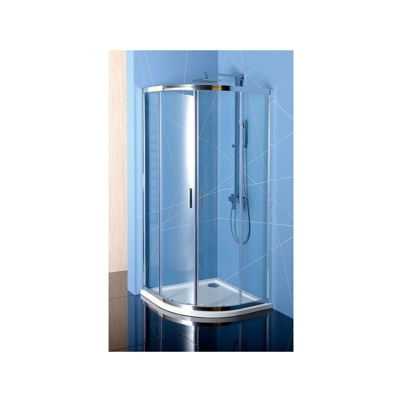 EASY LINE kabina prysznicowa półokrągła 800x800mm, szkło czyste