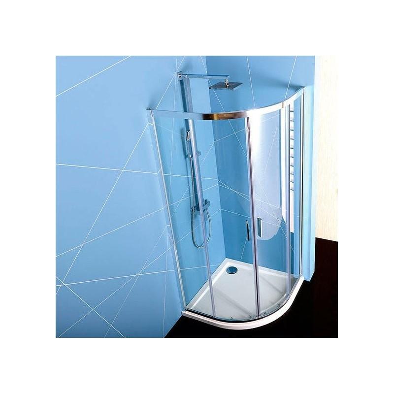 EASY LINE kabina prysznicowa półokrągła 900x900mm, szkło czyste