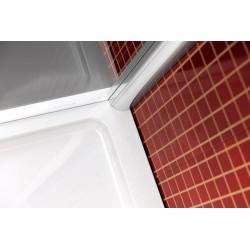 LUCIS LINE kabina prysznicowa półokrągła, 1000x1000mm, R550, szkło czyste