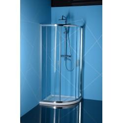 EASY LINE kabina prysznicowa półokrągła 900x800mm, szkło czyste