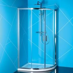 EASY LINE kabina prysznicowa półokrągła 1000x800mm, szkło czyste