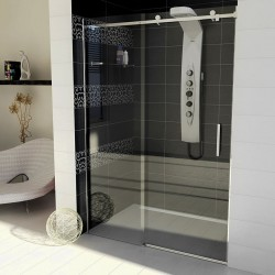 DRAGON drzwi prysznicowe 1400mm, szkło czyste