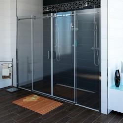 DRAGON drzwi prysznicowe 1800mm, szkło czyste