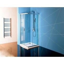 EASY LINE kabina prysznicowa narożna 800x800mm, szkło czyste