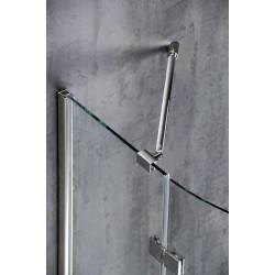 Wspornik narożny ściana / szkło, chrom