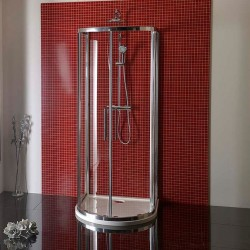 LUCIS LINE półokrągła kabina prysznicowa 900x900mm, szkło czyste