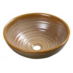 ATTILA umywalka 42,5cm, ceramiczny, brązowa