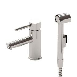 RHAPSODY Bateria umywalkowa z prysznicem bidetowym, chrom
