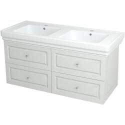 VIOLETA szafka umywalkowa 116x52x48,5cm, kolor biały