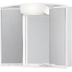 ANGY szafka z lustrem 59x50x15cm, 1x40W, biała