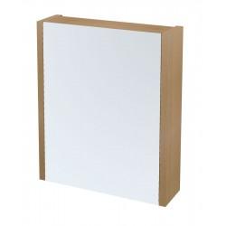 LARITA szafka z lustrem 60x70x17cm, dąb natural