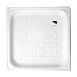 Brodzik prysznicowy emaliowany, kwadrat 80x80x16cm, biały