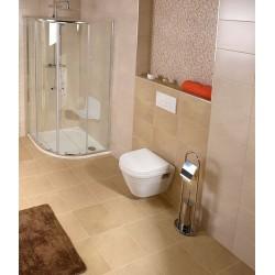 SAMBA wieszak na papier toaletowy ze szczotką WC, chrom