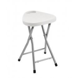 Taboret łazienkowy 30x46,5x29,3cm, biały