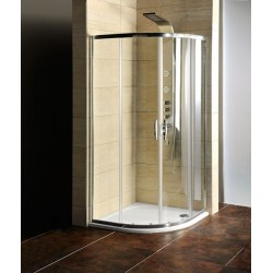 AKCE kabina prysznicowa półokrągła 900x900x1900mm, szkło czyste