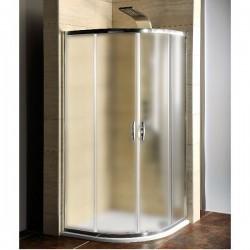 AKCE kabina prysznicowa półokrągła 900x900x1900mm, szkło BRICK
