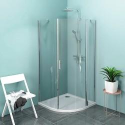 ZOOM LINE kabina prysznicowa półokrągła 1000x1000mm, szkło czyste, prawa