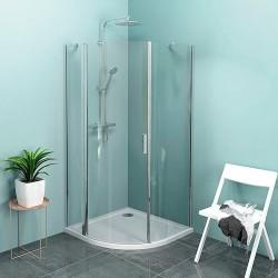 ZOOM LINE kabina prysznicowa półokrągła 1000x1000mm, szkło czyste, lewa