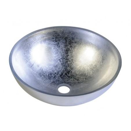 MURANO ARGENTO umywalka szklana okrągła 40x14cm