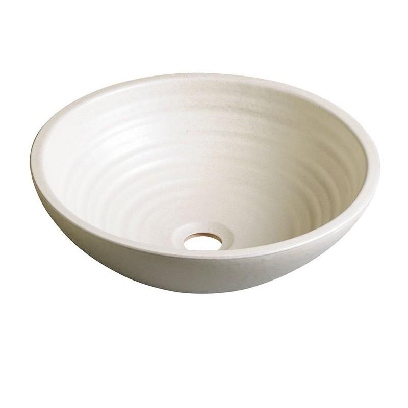 ATTILA umywalka ceramiczna, średnica 44cm, kość słoniowa