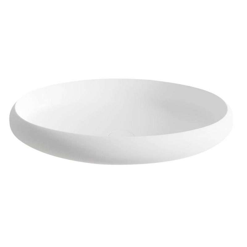 THIN umywalka nablatowa 600x400x112mm, biała matowa