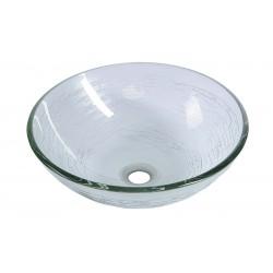 RIPPLE umywalka szklana, średnica 42 cm