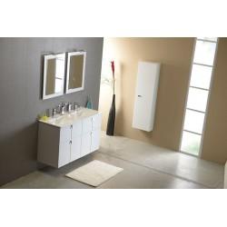 SLIM podwójna umywalka meblowa, 120x16x46cm