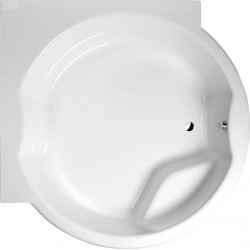 ROYAL CORNER wanna specjalna z konstrukcją 172x172x49cm, biała