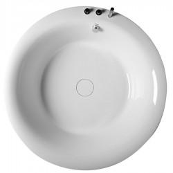 OBLO wanna okrągła z ramą, 165x48cm, biała