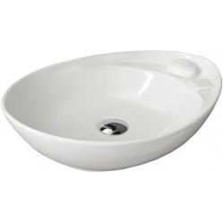 BEVERLY umywalka ceramiczna nablatowa 56x37x17 cm, bez odpływu