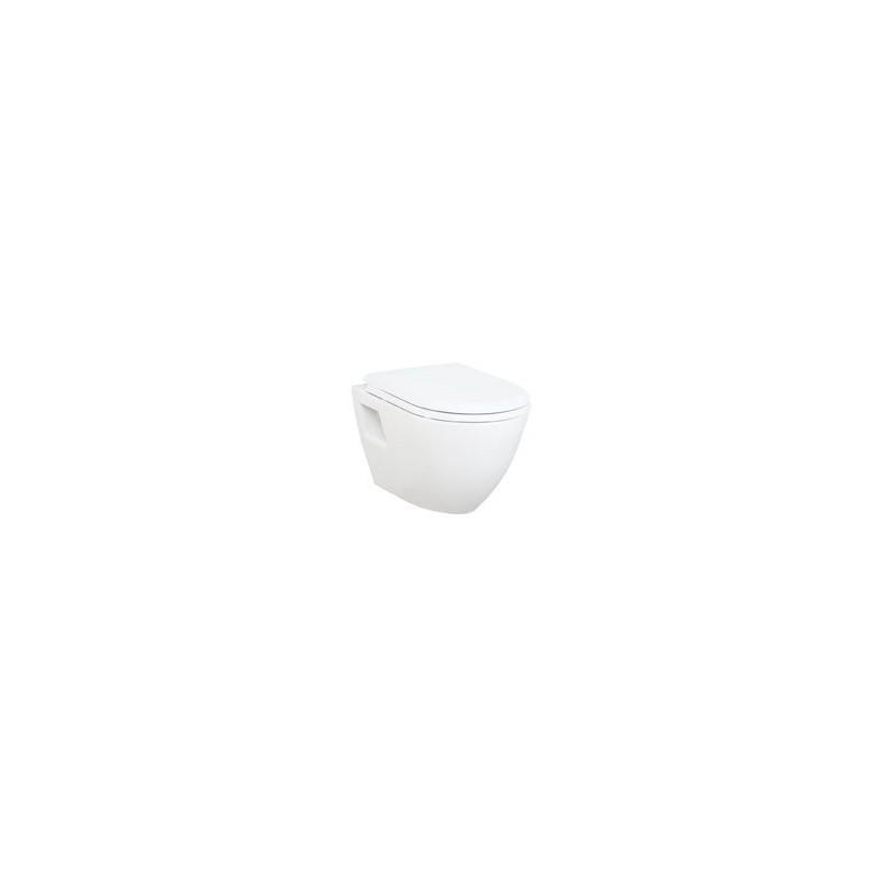 PAULA WC wiszące 35,5x50cm, białe