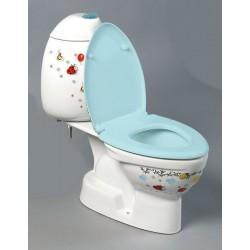 KID WC kompakt dla dzieci, tylny odpływ, kolorowy sitodruk