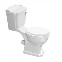 ANTIK kompakt WC, miska + spłuczka + mechanizm spłukujący + deska WC, biel/chrom